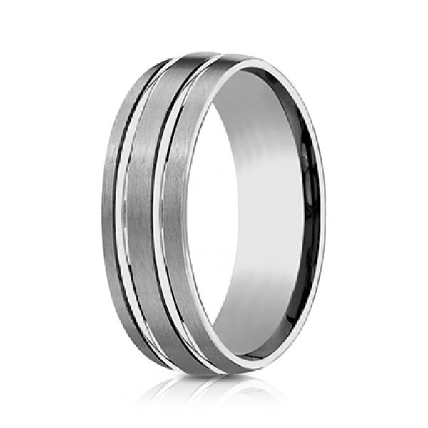 Next Generation Tungsten Comfort Fit Wedding Band Image 2 Skaneateles Jewelry Skaneateles, NY