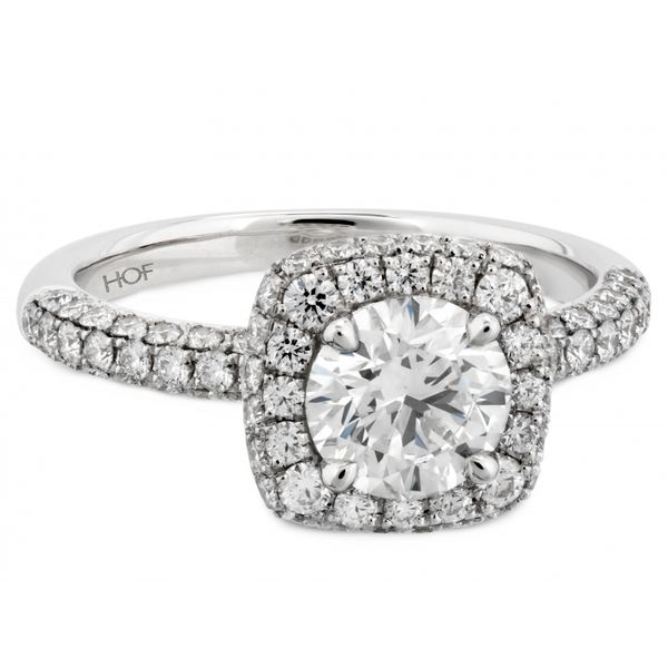 Hearts on Fire Euphoria Pave Engagement Ring Image 2  ,
