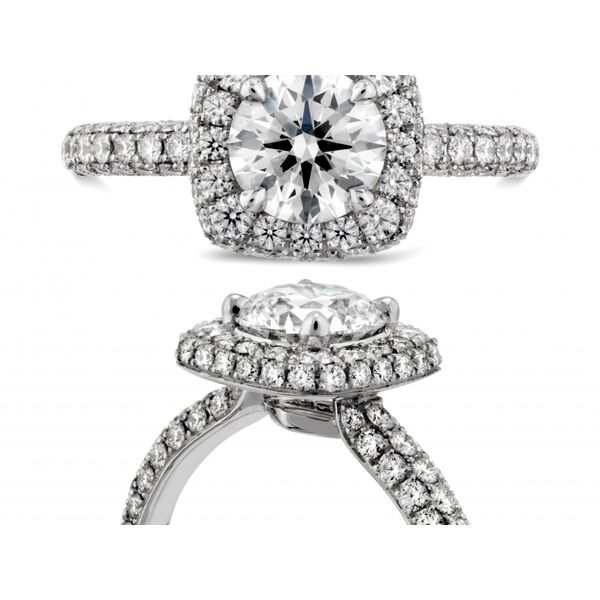 Hearts on Fire Euphoria Pave Engagement Ring Image 4  ,