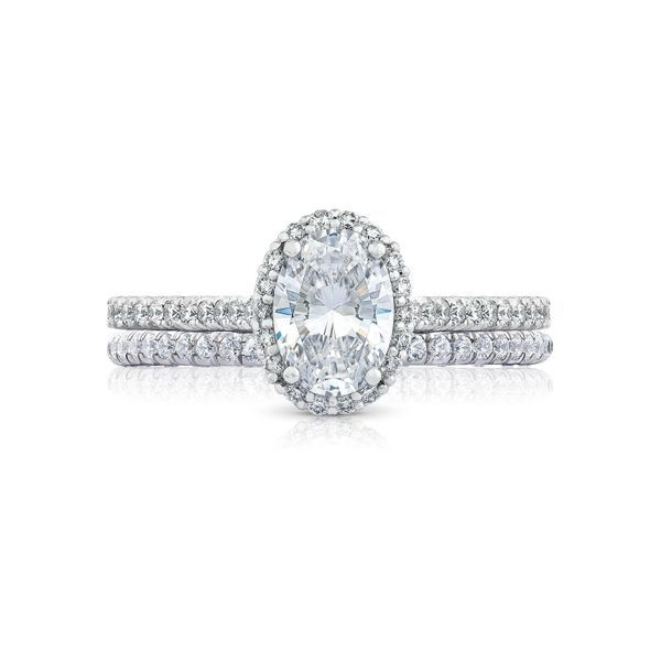 Tacori Petite Crescent Oval Engagement Ring Image 3 Skaneateles Jewelry Skaneateles, NY