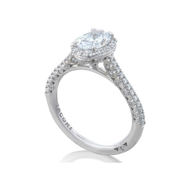 Tacori Petite Crescent Oval Engagement Ring Image 4 Skaneateles Jewelry Skaneateles, NY