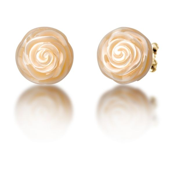 Galatea Carved Pearl Earrings Skaneateles Jewelry Skaneateles, NY