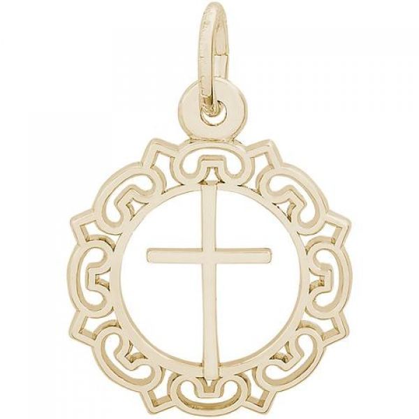 Rembrandt Ornate Cross Charm Image 2  ,