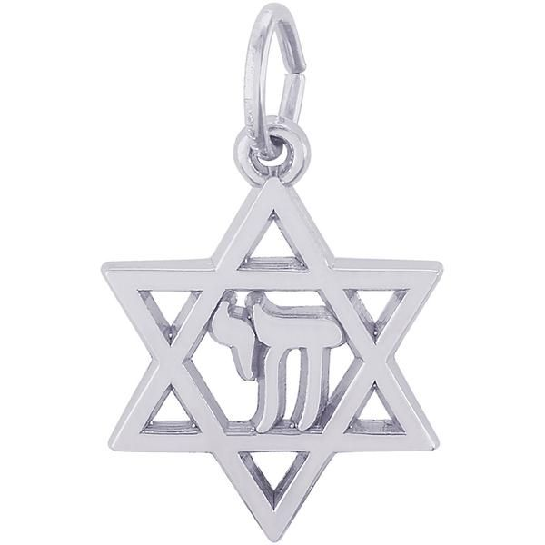 Rembrandt Chai Star of David Charm Skaneateles Jewelry Skaneateles, NY
