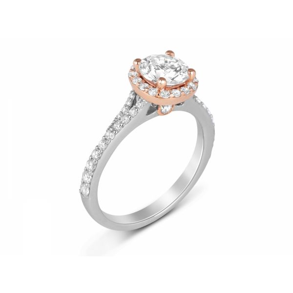 Next Generation Halo Engagement Ring Skaneateles Jewelry Skaneateles, NY