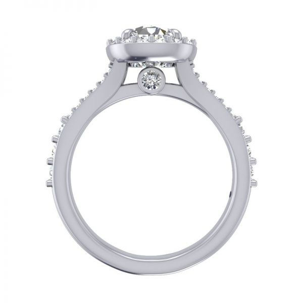Next Generation Halo Engagement Ring Image 4  ,