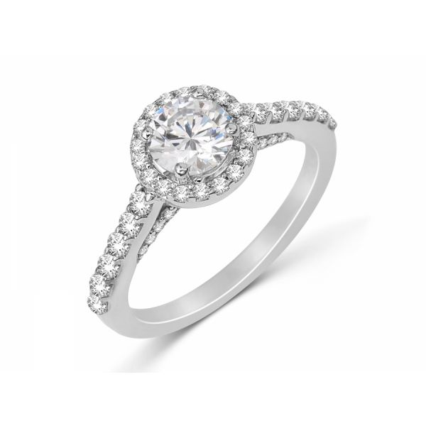Next Generation Diamond Halo Engagement Ring Skaneateles Jewelry Skaneateles, NY