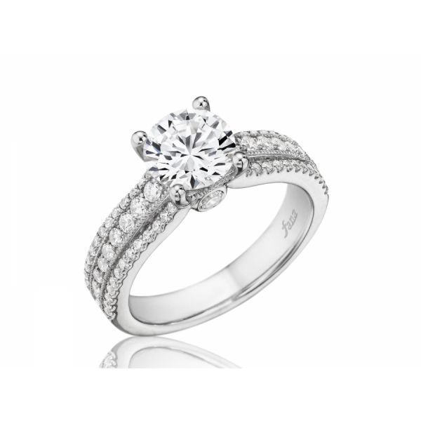 Next Generation Three Row Engagement Ring Skaneateles Jewelry Skaneateles, NY