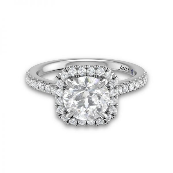Next Generation Cushion Halo Engagement Ring Image 3 Skaneateles Jewelry Skaneateles, NY