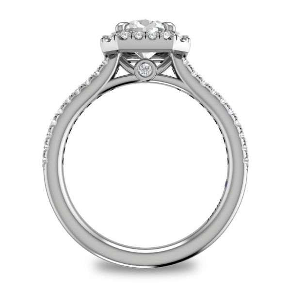 Next Generation Cushion Halo Engagement Ring Image 4 Skaneateles Jewelry Skaneateles, NY