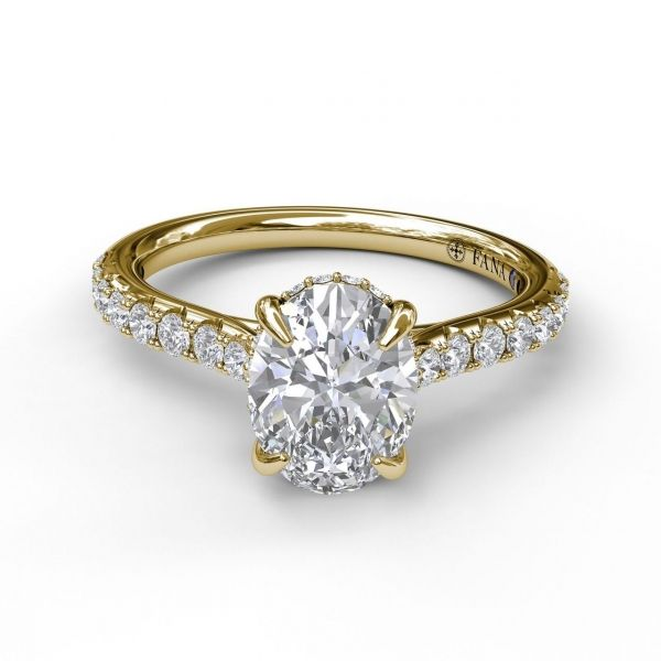 Next Generation Cathedral Diamond Engagement Ring Image 2 Skaneateles Jewelry Skaneateles, NY