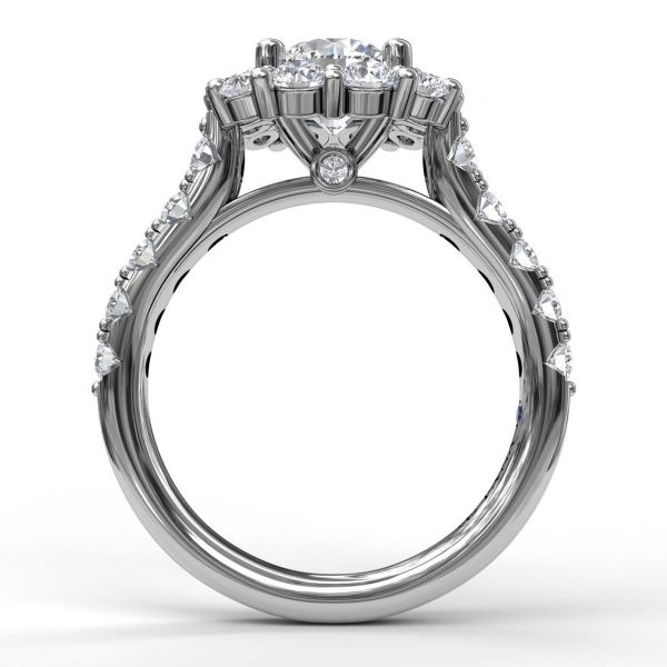 Next Generation Halo Diamond Engagement Ring Image 3  ,