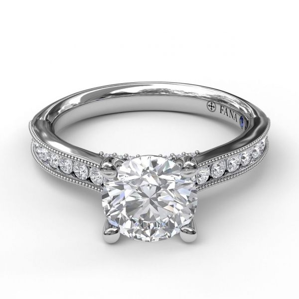 Next Generation Channel Set Engagement Ring Image 2 Skaneateles Jewelry Skaneateles, NY