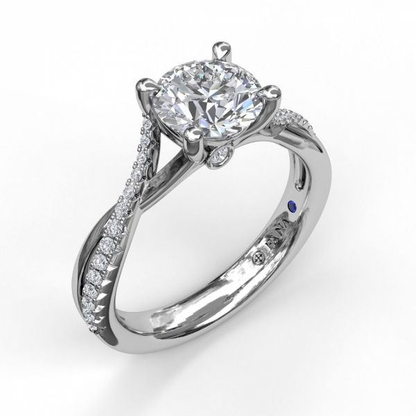 Next Generation Diamond Twist Engagement Ring Skaneateles Jewelry Skaneateles, NY
