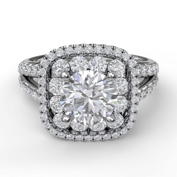 Next Generation Double Halo Engagement Ring Image 2 Skaneateles Jewelry Skaneateles, NY