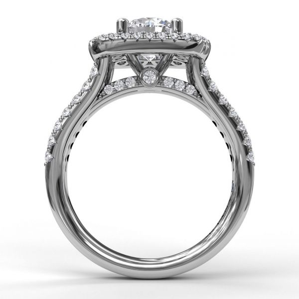 Next Generation Double Halo Engagement Ring Image 3 Skaneateles Jewelry Skaneateles, NY
