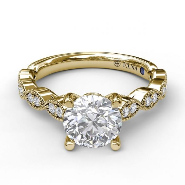 Next Generation Marquis Pattern Diamond Engagement Ring Image 2  ,