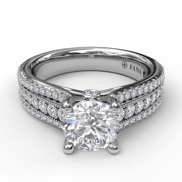 Next Generation Three Row Engagement Ring Image 4 Skaneateles Jewelry Skaneateles, NY