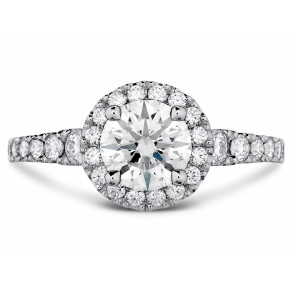 Hearts on Fire Transcend Premier Halo Engagement Ring Skaneateles Jewelry Skaneateles, NY