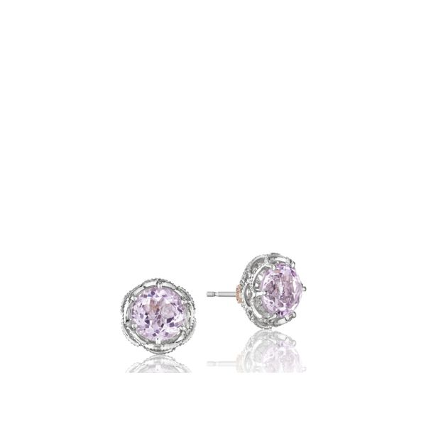 Tacori SS Classic Rock Crescent Crown Studs Image 2 Skaneateles Jewelry Skaneateles, NY