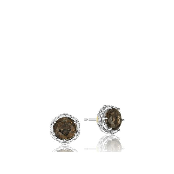 Tacori SS Classic Rock Crescent Crown Studs Image 4 Skaneateles Jewelry Skaneateles, NY