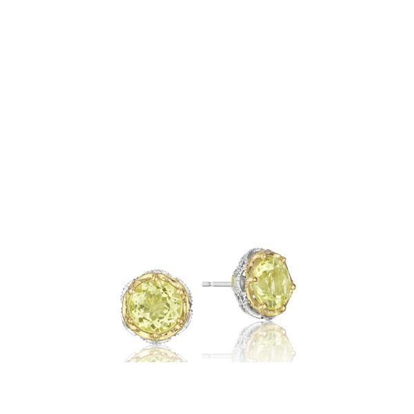 Tacori Color Medley Crescent Crown Studs Image 4  ,