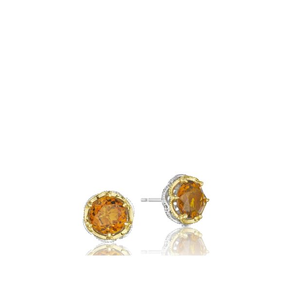 Tacori Color Medley Crescent Crown Studs Image 3  ,