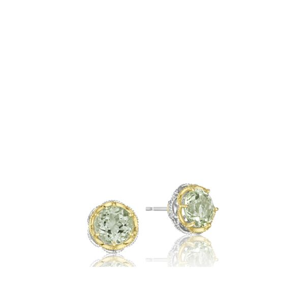Tacori Color Medley Crescent Crown Studs Image 2  ,