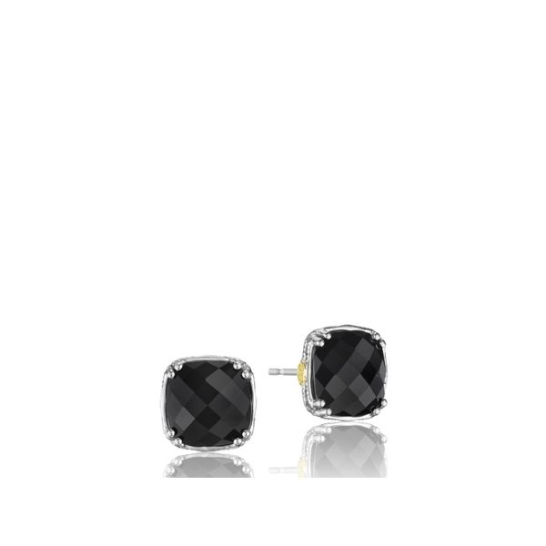 Tacori Classic Rock Cushion Cut Gem Stud Image 3  ,