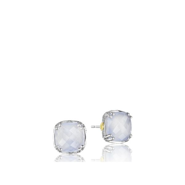 Tacori Classic Rock Cushion Cut Gem Stud Image 2  ,