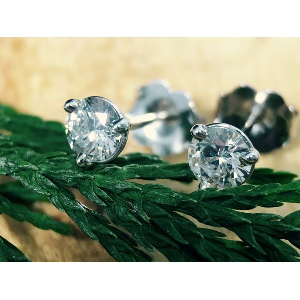 Diamond Stud Earrings Image 2  ,
