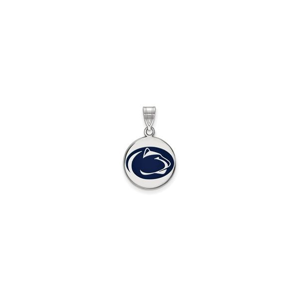 Penn State University Medium Enamel Disc Pendant Confer's Jewelers Bellefonte, PA