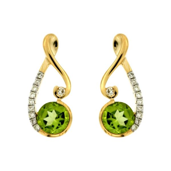 DIAMOND & PERIDOT EARRING  Cottage Hill Diamonds Elmhurst, IL
