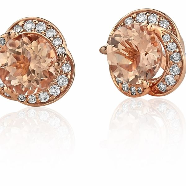 DIAMOND & MORGANITE EARRINGS Cottage Hill Diamonds Elmhurst, IL