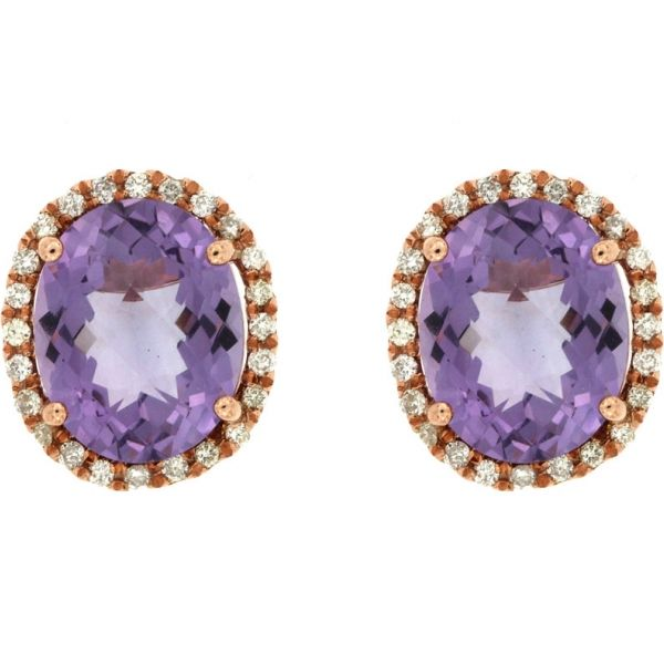 DIAMOND & AMETHYST EARRING Cottage Hill Diamonds Elmhurst, IL