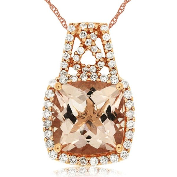 DIAMOND & MORGANITE PENDANT Cottage Hill Diamonds Elmhurst, IL