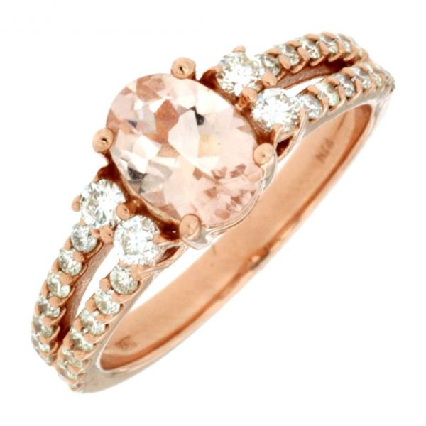 DIAMOND & MORGANITE RING Cottage Hill Diamonds Elmhurst, IL