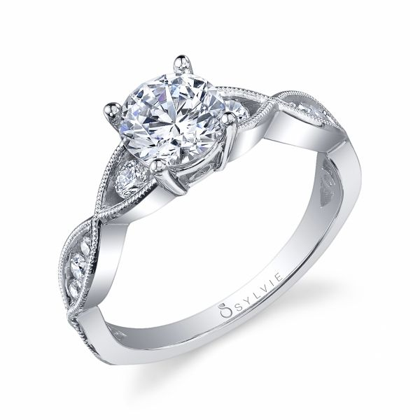 Vintage Crisscross Solitaire Diamond Engagement Ring Cottage Hill Diamonds Elmhurst, IL