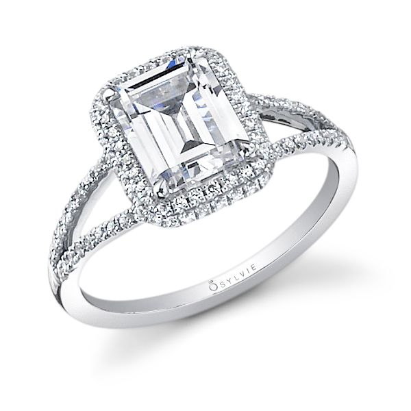 Glamorous Emerald Cut Split-Shank Diamond Engagement Ring Cottage Hill Diamonds Elmhurst, IL
