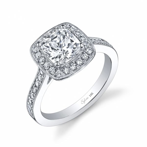 Classic Cushion Cut Halo Diamond Engagement Ring Cottage Hill Diamonds Elmhurst, IL