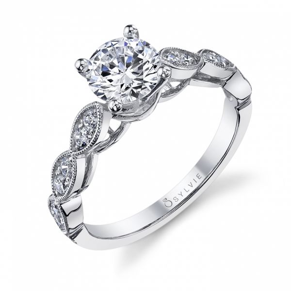 Modern Round Brilliant Diamond Engagement Ring Cottage Hill Diamonds Elmhurst, IL
