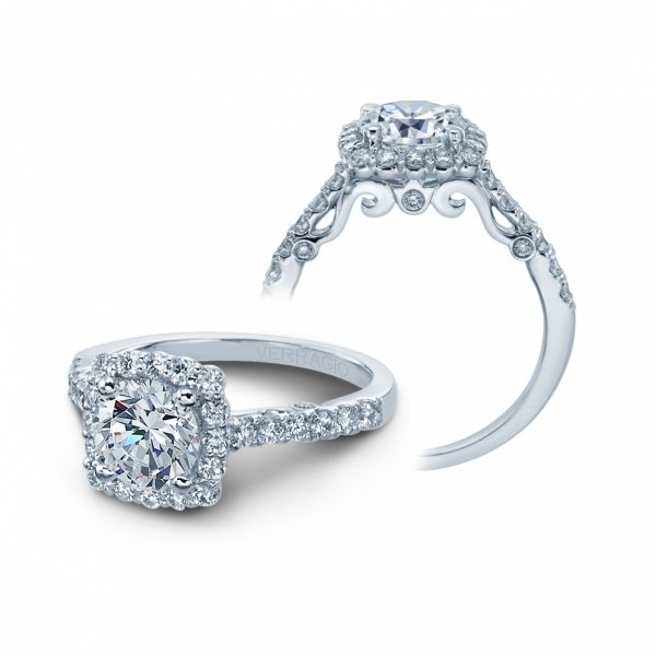 Insignia Collection Diamond Cushion Halo Cottage Hill Diamonds Elmhurst, IL