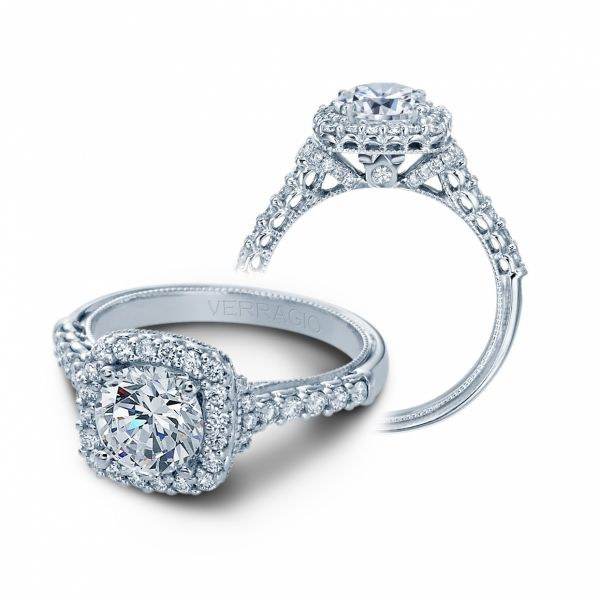 Classic Collection Diamond Halo Cottage Hill Diamonds Elmhurst, IL