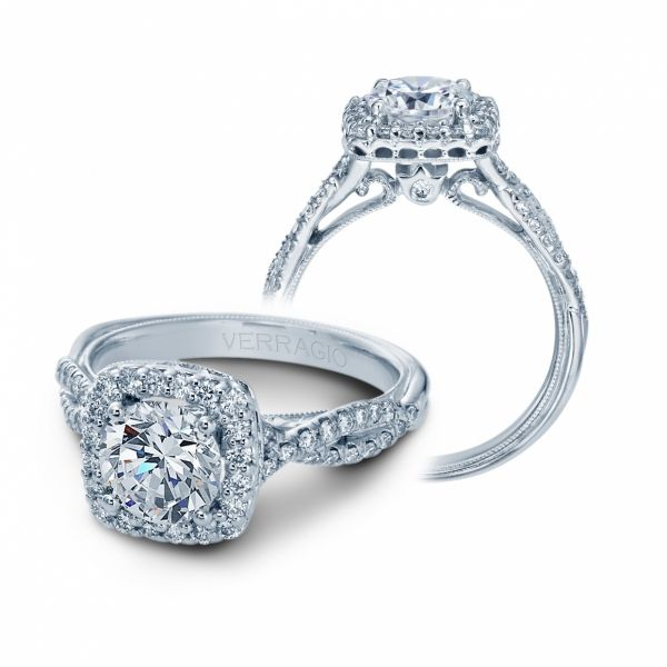 Classic Collection Diamond Cushion Halo Cottage Hill Diamonds Elmhurst, IL