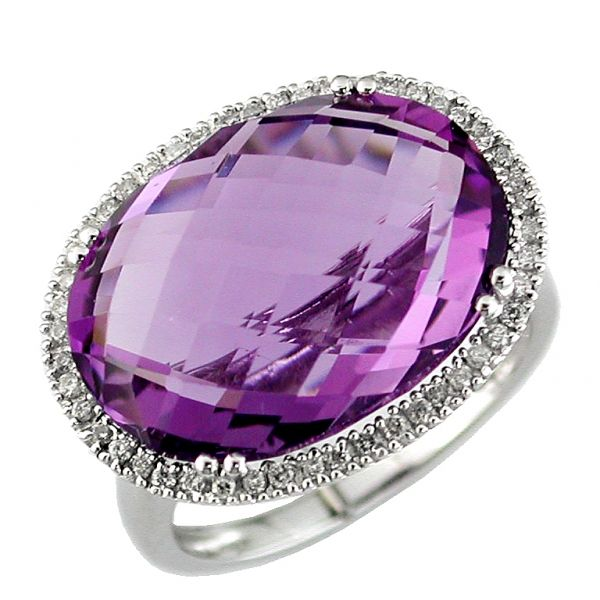 DIAMOND & AMETHYST RING Cottage Hill Diamonds Elmhurst, IL