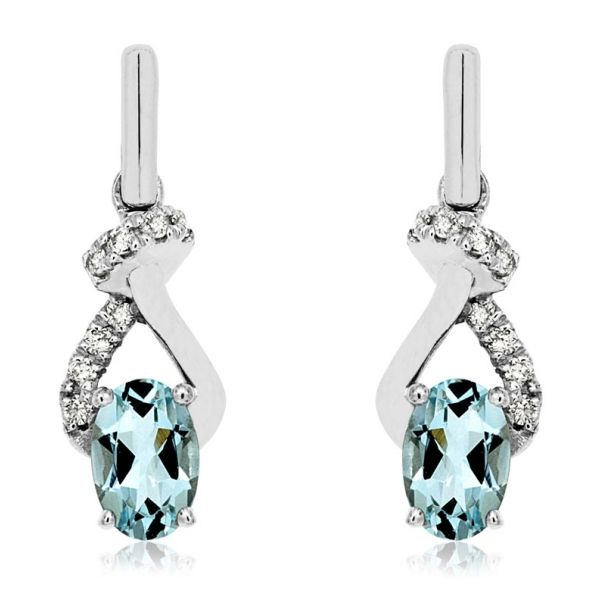DIAMOND & AQUAMARINE EARRING Cottage Hill Diamonds Elmhurst, IL