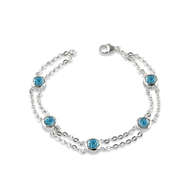 Blue Topaz Double Link Bracelet Darrah Cooper, Inc. Lake Placid, NY