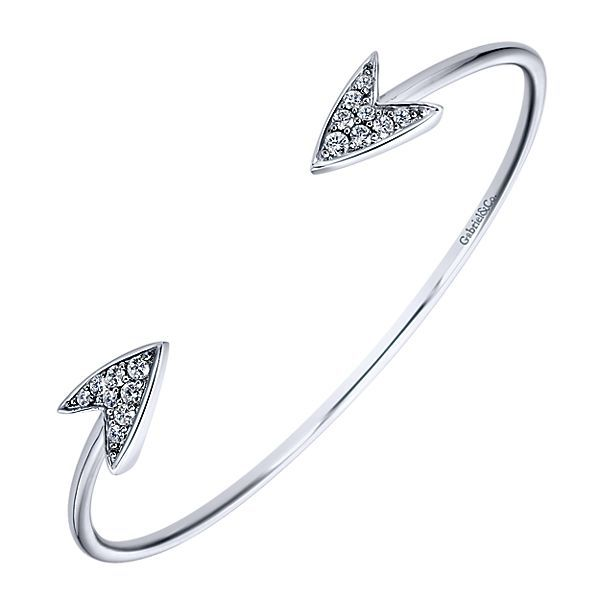 White Sapphire Arrow Cuff Image 2 Darrah Cooper, Inc. Lake Placid, NY