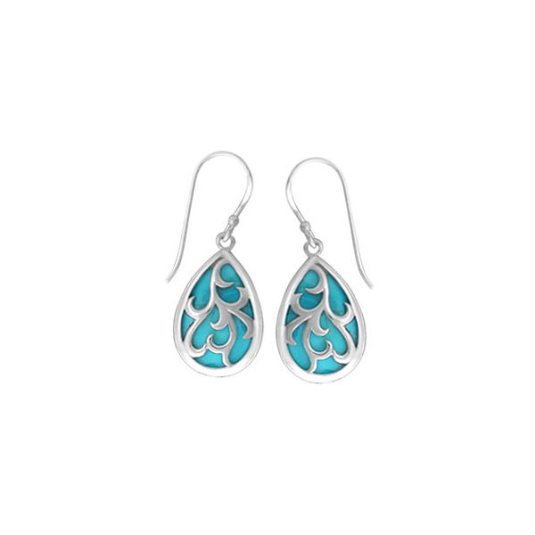 Turquiose Teardrop Swirl Earrings Darrah Cooper, Inc. Lake Placid, NY