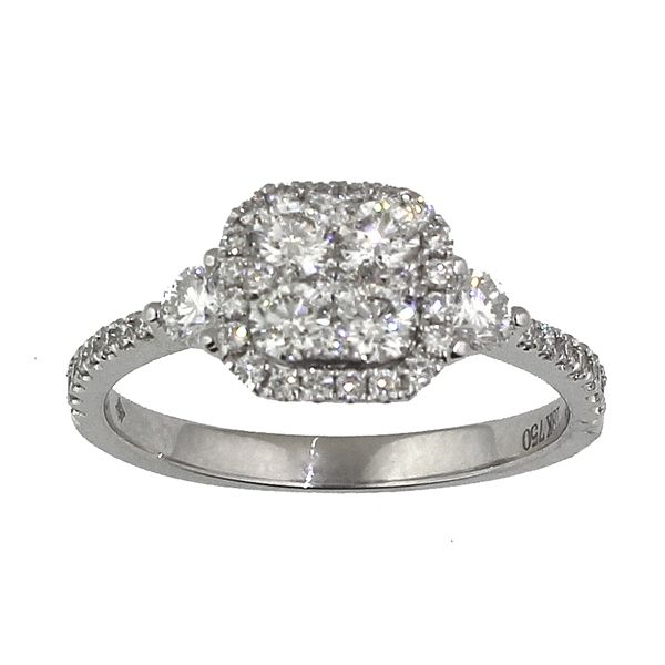 Diamond Engagement Ring-Cluster Darrah Cooper, Inc. Lake Placid, NY